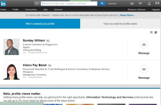 Metz's LinkedIn